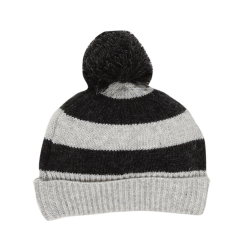 Bebe Hawk Stripe Beanie Grey Stripe