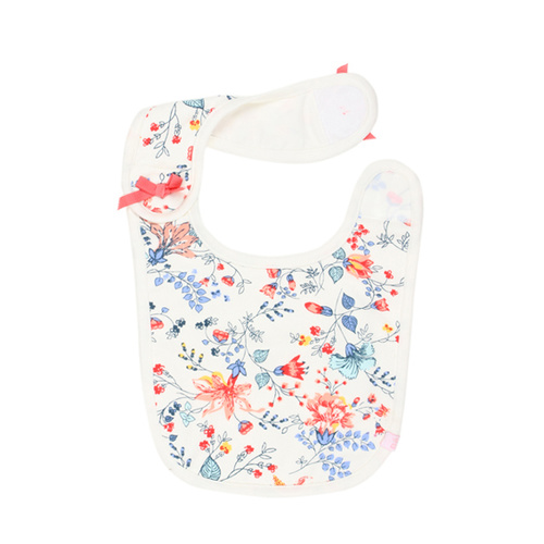 Bebe Alexa Velcro Bib With Bows