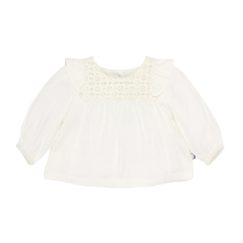 Bebe Claire Long Sleeve Lace York Blouse