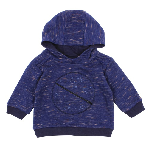 Bebe Felix Planet Hooded Sweat Top Navy
