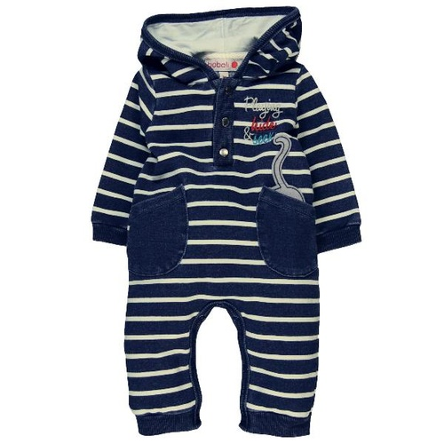 Boboli Fleece Play Suit In Denim