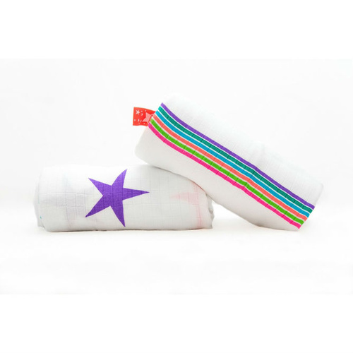 Cuski Rock Stars Luxury Bamboo Muslin Wraps - 2 pack