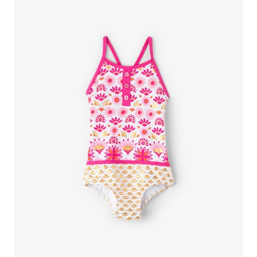 Hatley Pink & Gold Sarchi Colourblock Swimsuit