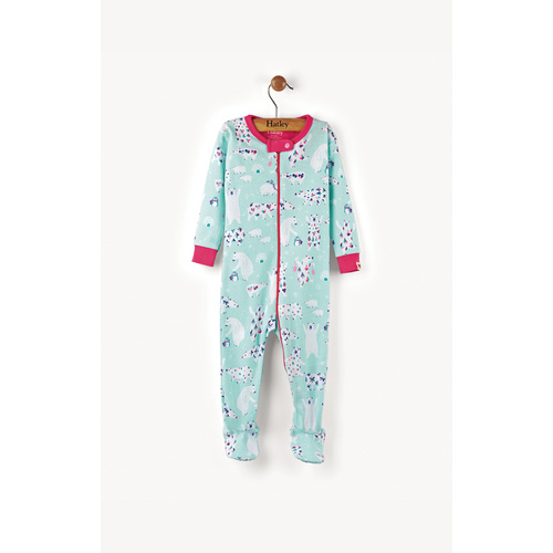 Hatley Arctic Party Mini Footed Coverall