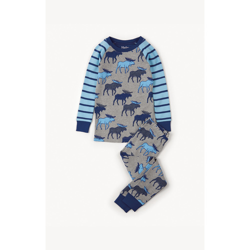 Hatley Blue Moose Long Sleeve Pyjama Set