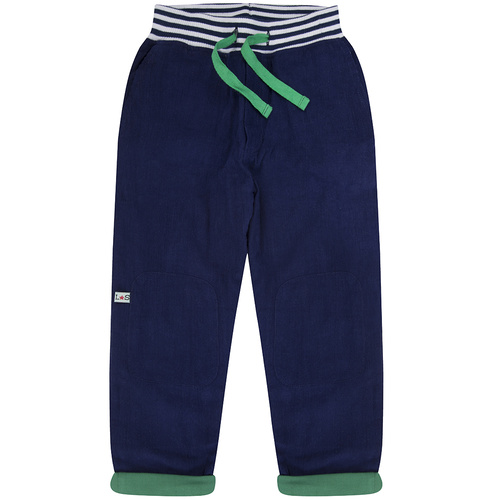 Lilly & Sid Tapered Leg Lined Cords in Navy